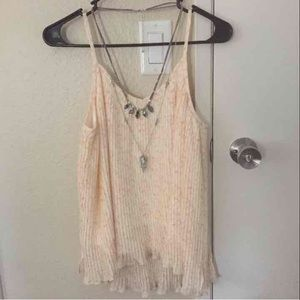 Tan/cream cami